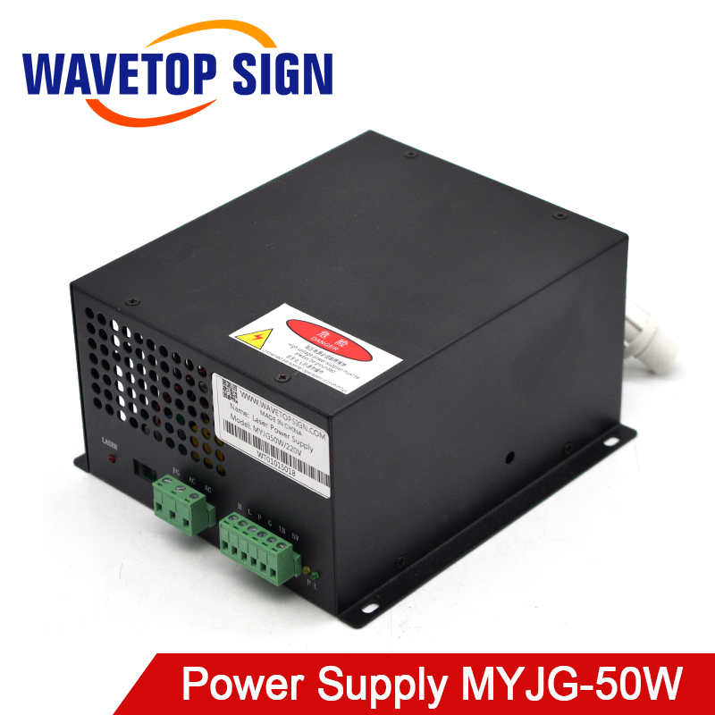 WaveTopSign MYJG-50W CO2 Laser Power Supply For CO2 Laser Engraving Cutting Machine