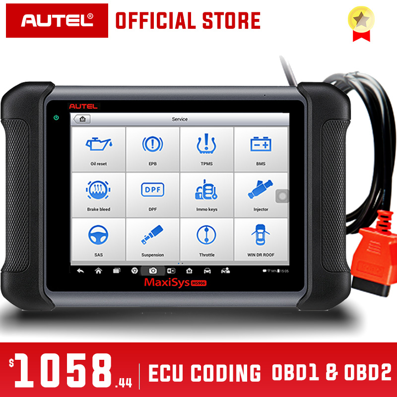 Automotive Scan Tool >> Us 973 76 31 Off Autel Maxisys Ms906 Obd2 Scanner Automotive Diagnostic Tool Ms 906 Key Programming Code Reader Oem Tools Key Coding Pk Ds808 In