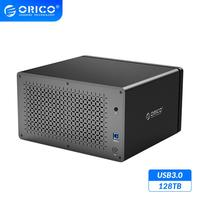ORICO NS Series 8 Bay USB3.0 HDD Docking Station Support 128TB USB3.0 5Gbps HDD Case UASP with 120W Adapter HDD Enclosure