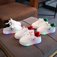 Stars fashion LED kids sneakers footwear soft Hook&Loop children shoes hot sales Lovely baby boys girls infant tennis