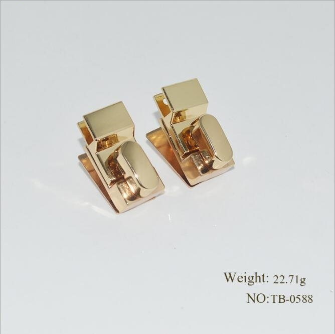 (10 Pcs/lot) New Bag Handbag Diy Round High Quality Glossy Alloy Decoration Rotary Lock Metal Accessories
