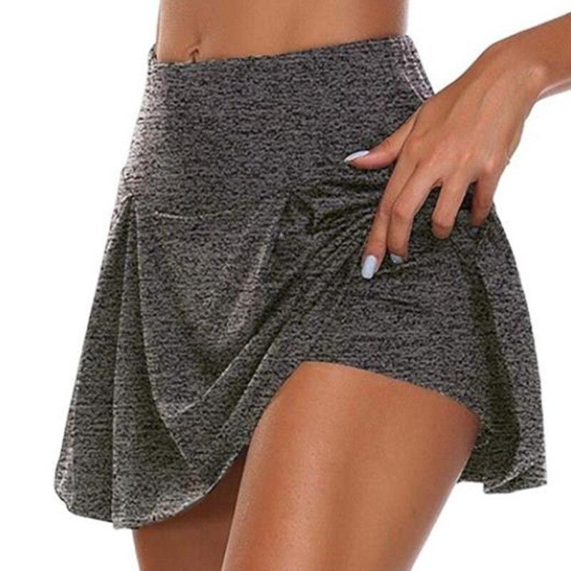 Для женщин спортивные плиссированная короткая юбка для занятий йогой с короткой юбкой Фитнес шорты для бега дышащие спортивные анти экспоз...