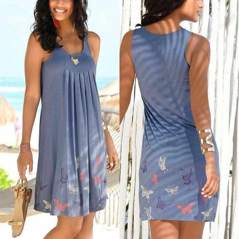 Gei Gei baskı Vintage kolsuz elbise o-boyun artı boyutu Sundress uzun parti seksi yaz elbiseler kadınlar için kore kadın giyim