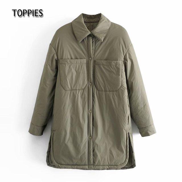Toppies 2021 New Woman Jacket Khaki Blouse Design Coat Spring Mujer Chaqueta Thin Woman Parkas 6