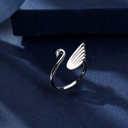 Mode mignon Animal anneau réglable pour les femmes élégant cygne anneau bijoux Poison