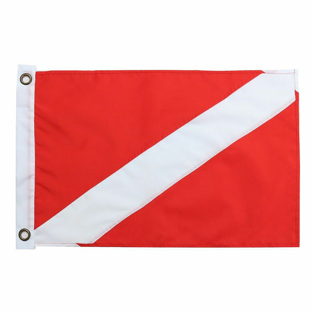 35X50CM Red Diver Down Flag Kayak Boat Safety Signal Marker Banner Flag For Underwater Scuba Diving Spearfishing
