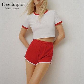 Women's Pure Cotton Leisure Style Suit Short T-shirt Shorts 1