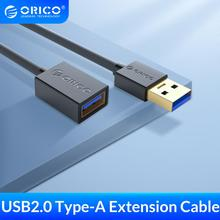 ORICO USB Cable de extensión USB 3,0 Cable USB 2,0 para Smart TV PS4 Xbox SSD USB3.0 2,0 tipo un extensor USB Cable de extensión Cable
