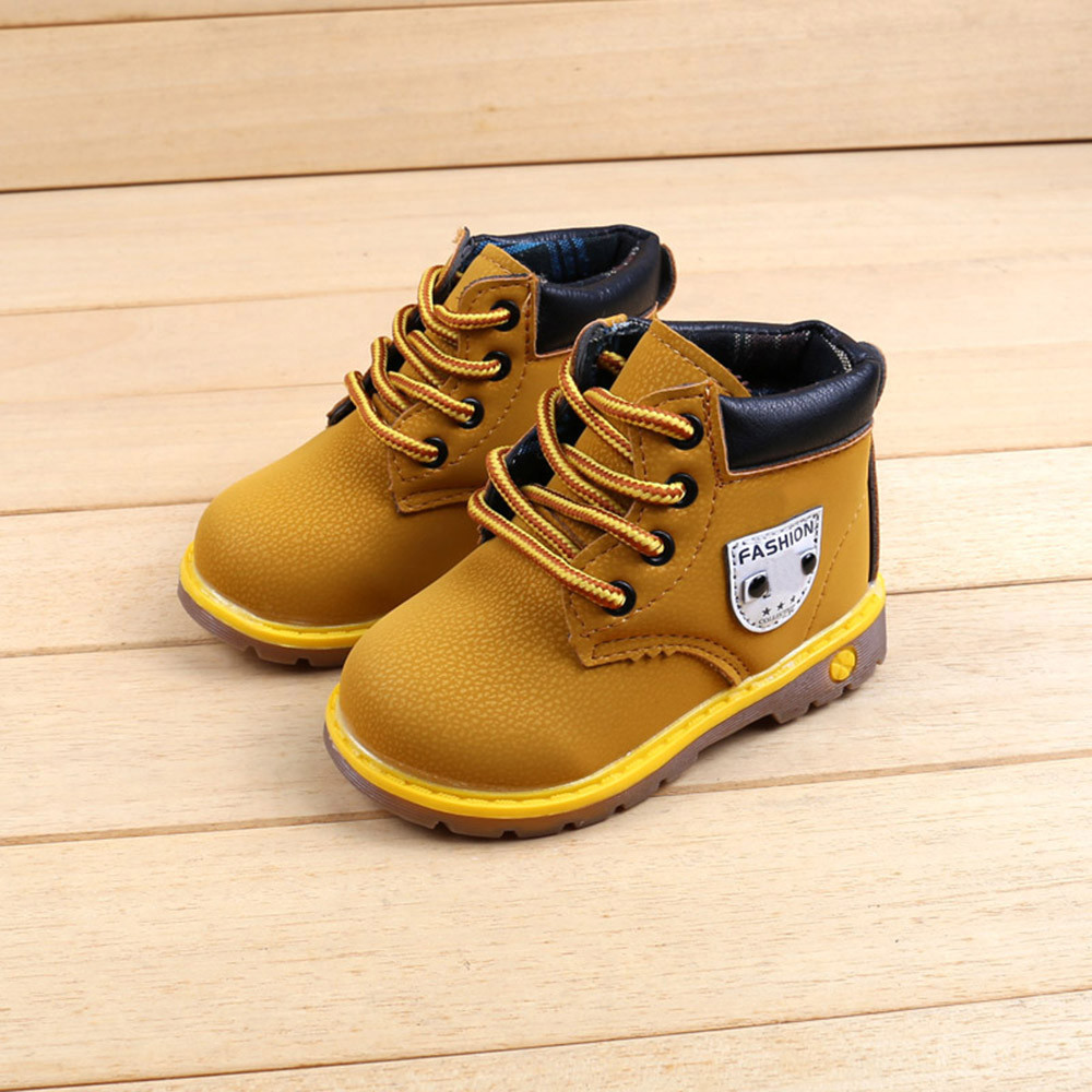 Baby Toddler Kids Boots Baby Children Warm Boys Girls Sneaker Boots Kids Baby Casual Shoes Motorcycle Boots детская зимняя обувь