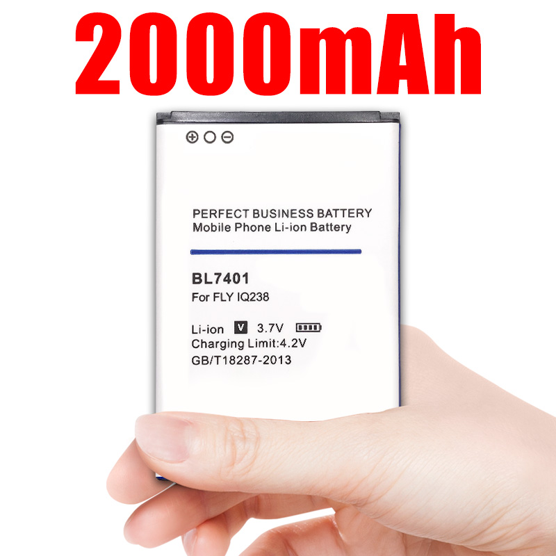 Phone Battery <font><b>BL7401</b></font> BL 7401 For <font><b>Fly</b></font> Iq238 Replacement Batteries 2000mAh image