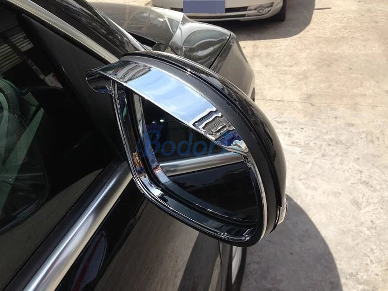 For Volkswagen VW Tiguan 2009 2015 Rear View Rain Hat Side Wing Mirror Cover Rearview Overlay Chrome Car Styling Accessories|Chromium Styling| |  - title=