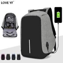 Рюкзак для ноутбука 15,6 дюймов, рюкзак для подростков, мужской рюкзак с защитой от кражи и usb зарядкой, Водонепроницаемый Школьный Рюкзак Для Путешествий, школьный рюкзак