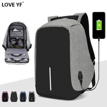 15.6 inch Laptop Backpack Teenager Male Mochila USB Charging Anti Theft Backpack Travel Waterproof School Bag School Backpack(China)
