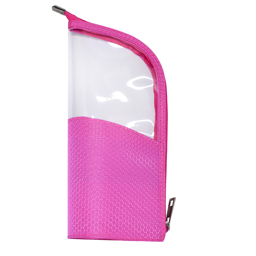 Half Transparent Cosmetic Brush Holder Pouch Zipper Closure Organizer Stand-up Multifunction Makeup Bag Waterproof Travel
