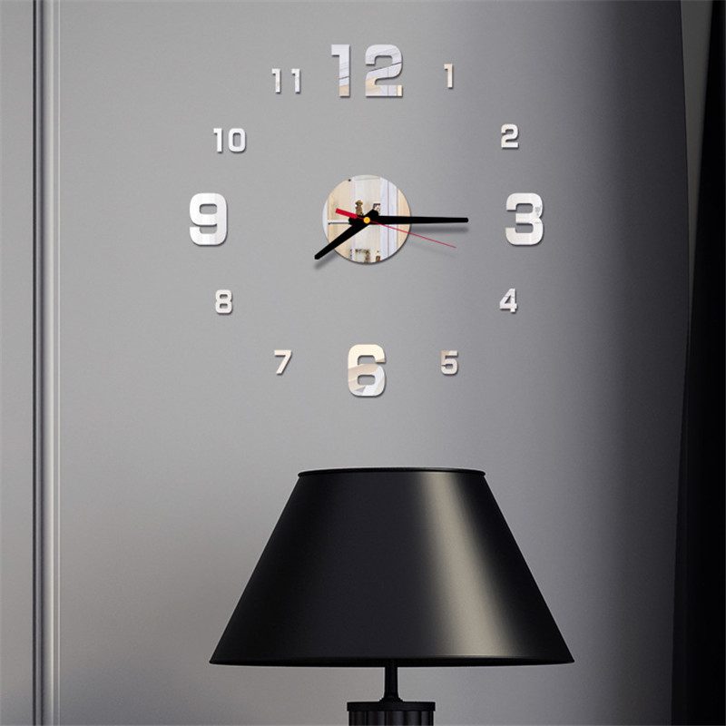 Decal Sticker Decor Watch Wall-Clock Modern-Decoration Large Unique Home Big-Number Diy title=