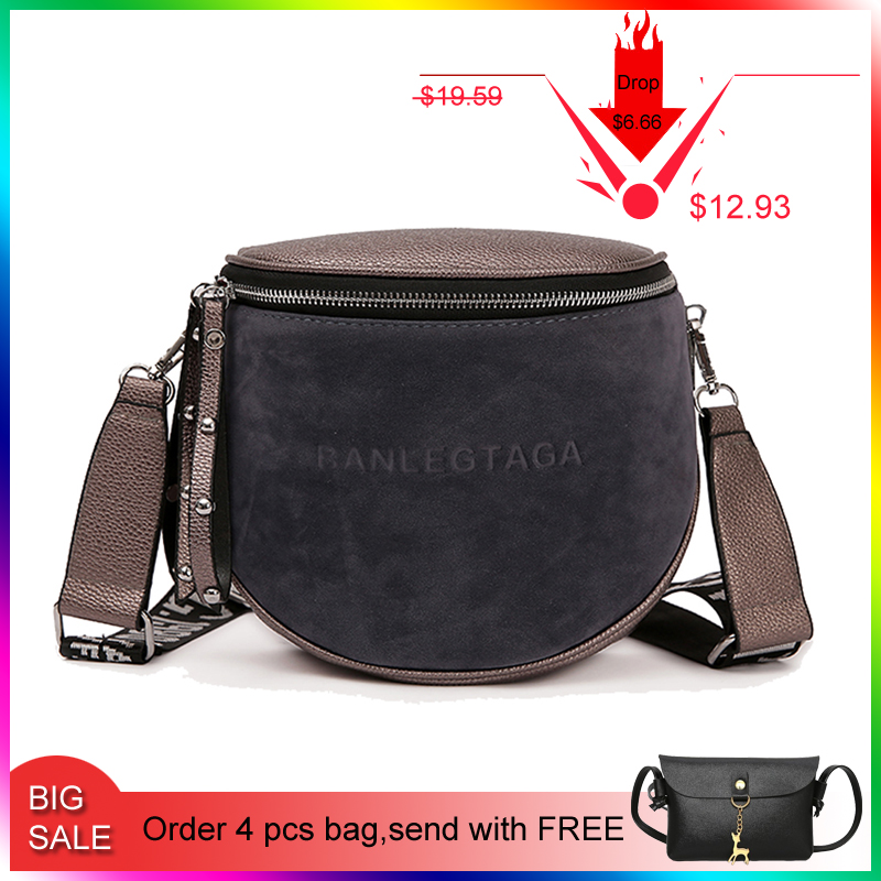 Fularuishi Crossbody-Bag Saddle Messemger-Bags Fashion Women Lady Famous-Brand For Semicircle