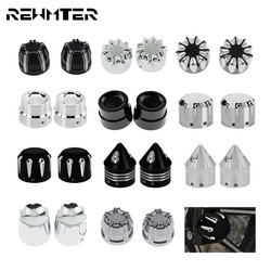 Motorcycle CNC Front Axle Nut Cover Cap Aluminum Black/Chrome For Harley Sportster XL XG Touring Dyna VRSC Softail Street Glide