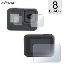 SOONSUN 6pcs LCD 화면 보호기 필름 + 렌즈 화면 보호 필름 GoPro 영웅 8 블랙 카메라 수호자 프로 8 액세서리 이동