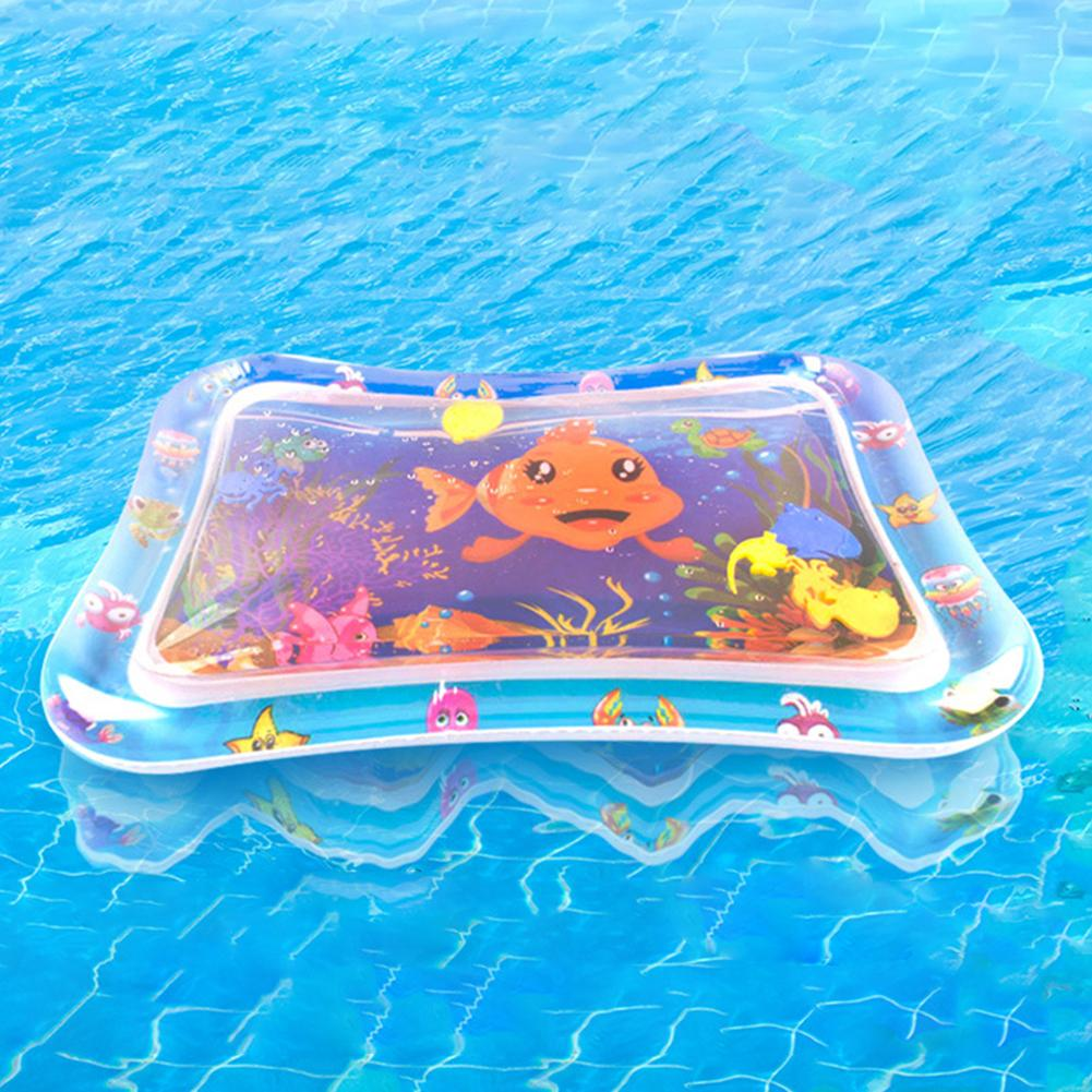 Baby Infant Cartoon Ocean Animal Octopus Dolphin Inflatable Water Mat Summer Game Play Pad Toy