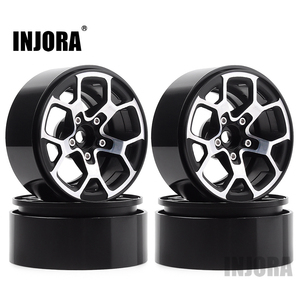 "Image 1 - INJORA 4PCS 2.0 ""금속 구슬 휠 허브 림 1.9 타이어 1/10 RC 크롤러 축 SCX10 90046 D90 TRX4 지프 랭글러"