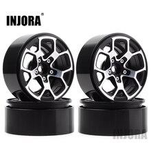 "INJORA 4PCS 2,0 ""Metall Beadlock Rad Hub Rim Fit 1,9 Reifen für 1/10 RC Crawler Axial SCX10 90046 d90 TRX4 Jeep Wrangler"