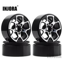 INJORA moyeu de roue à billes en métal 2.0 pouces, 1.9 pneus, pour 1/10 RC chenille axiale SCX10 90046 D90 TRX4 Jeep Wrangler, 4 pièces