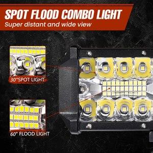 Image 4 - Aeobey 12 אינץ 240W 80led מכביש Led אור בר מעוקל LED נהיגה אורות 4x4 Offroad משאית SUV טרקטורונים טרקטור סירת 12v 24v