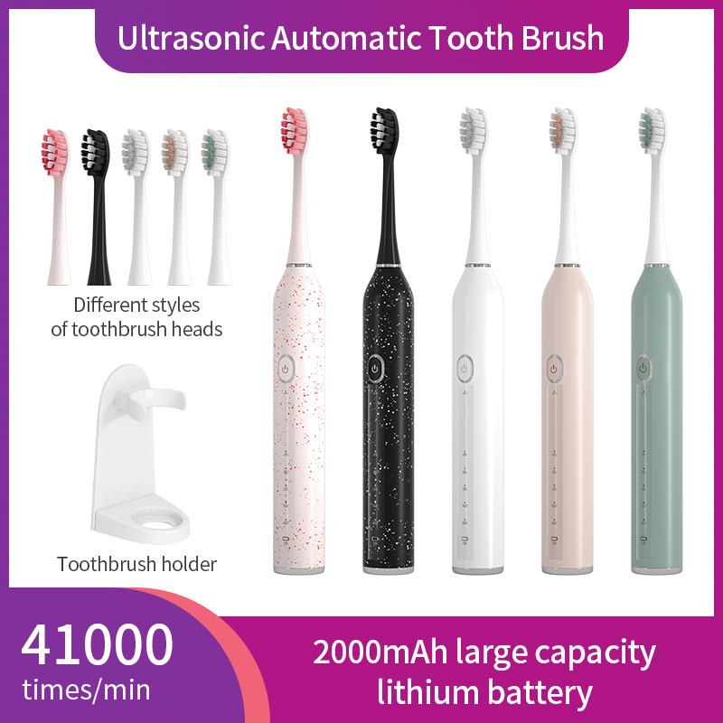 Sonic Electric Toothbrush IPX7 Adult Timer ToothBrush 5 Mode USB Charger Rechargeable Ultrasonic Automatic Tooth Brush