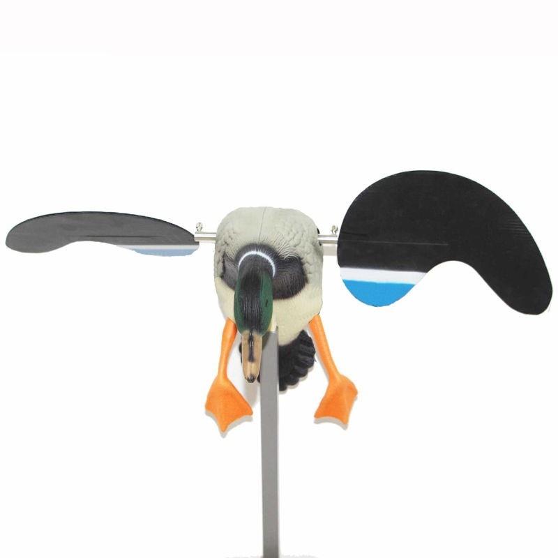 PDDHKK plastique électrique canard colvert leurre extérieur chasse au canard 4*1.5V batterie puissance télécommande avec aimant rotation ailes