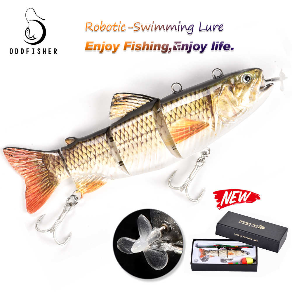 Robotic Swimming Lockt Auto Elektrische Locken Köder Angeln Wobbler Für 4-Segement Swimbait USB Aufladbare LED licht bass hecht
