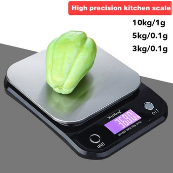 DIDIHOU Portable Digital Scale LED Electronic Scales Postal Food Balance Measuring Weight Kitchen Scale Digital Stainless Steel image