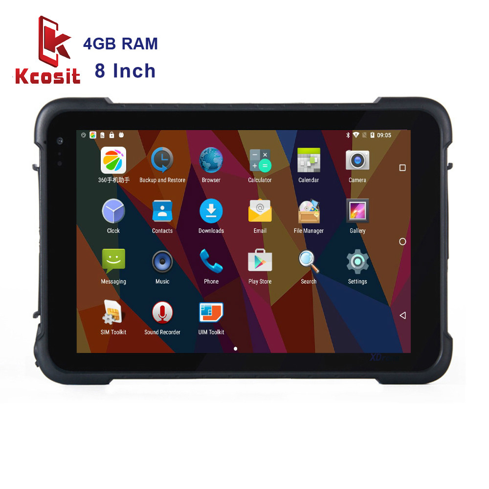 2020 Original industrial Android Tablet PC IP67 Waterproof Rugged Phablet 8 inch Qualcomm 4GB RAM 4G LTE 8500mAH Battery Scanner