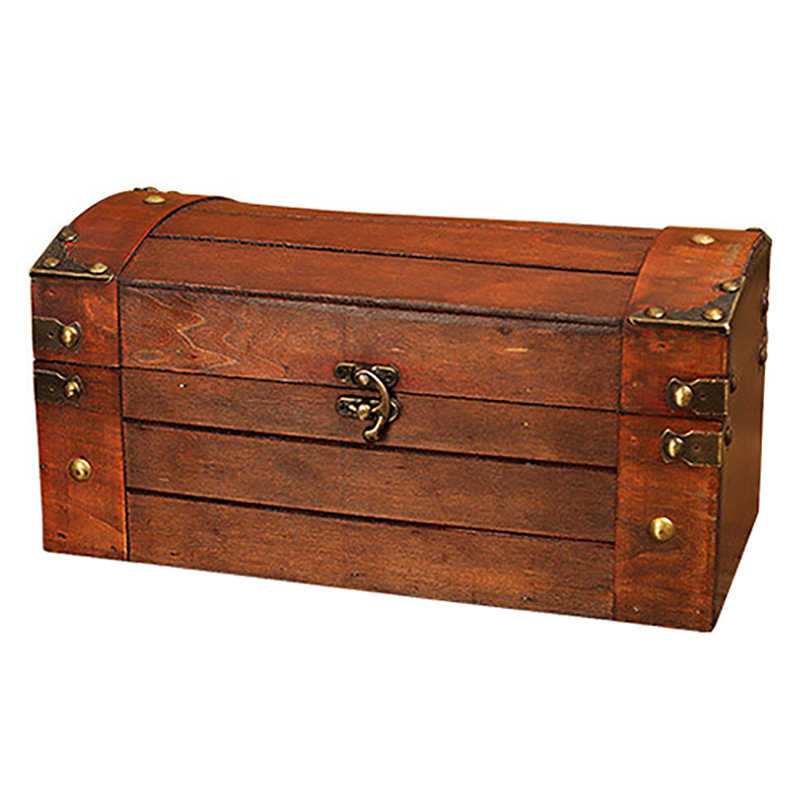 Retro 4 Layers Trinket Jewelry Storage Box Wood Chest Treasure Organizer Box