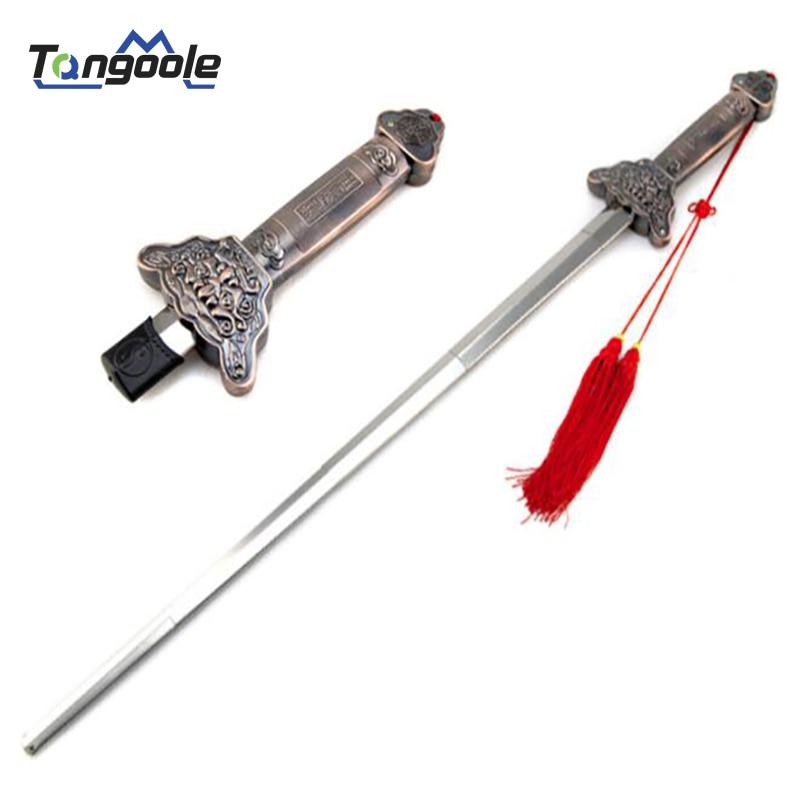 Telescopic Kung Fu Taichi Sword Swallowing Sword Practice Magic Performance Training Trick Props Taiji Fitness Swords