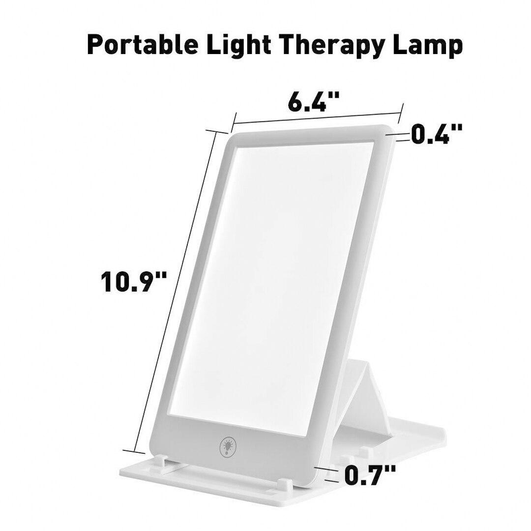 1 шт. естественная лампа дневного света для терапии, светодиодная яркая белая терапия, Сезонное аффективное расстройство, фототерапия, 3 реж...