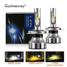 2 قطعة H4 LED مصباح H7 H1 H11 D2H سيارة العلوي لمبات 3000K 6000K 4300K الالوان الثلاثة 90W 11000LM 9006 H3 881 السيارات الضباب ضوء 12V