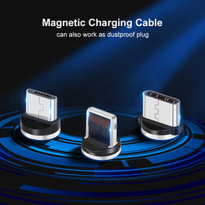 Usb-Cable Magnet-Charger Xiaomi Samsung Note-10 iPhone 11 Micro-Usb LED Type-C for XR