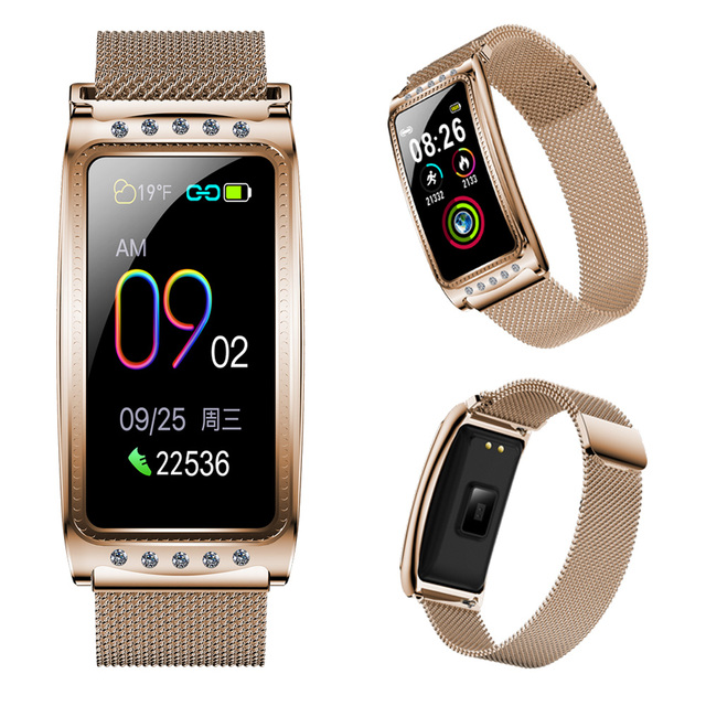 F28 Women Smart Watch For Android IOS Heart Rate Measuring Blood Pressure Monitor Women's Bracelet Waterproof Fitness Bracelet 1