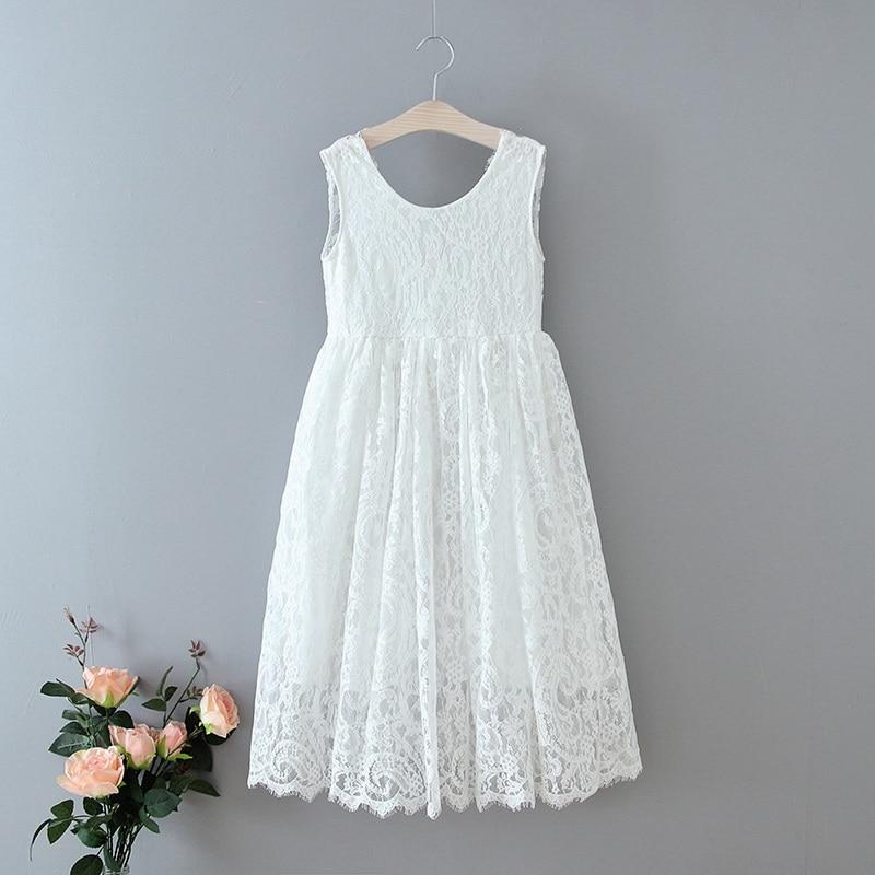 70-6-White Lace Girls Dress