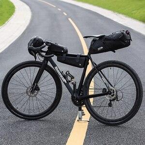 Image 3 - Rhinowalk Bike Wasserdichte Fahrrad Sattel Tasche Reflektierende Große Kapazität Faltbare Schwanz Hinten Tasche Radfahren MTB Stamm Pannier Schwarz