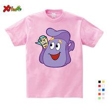 Детская футболка для девочек Милая летняя из 100% хлопка мультяшная