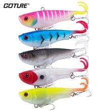 Goture 5 шт/лот ТПЭ мягкая рыболовная приманка воблер Вибрирующая