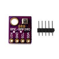 Módulo i2c spi 1.8 5 v do sensor da pressão barométrica da umidade da temperatura do sensor de digitas da precisão alta bme280 5 v i2c Automação predial     -