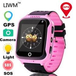 LIWM Q528 dziecko GPS smartwatch z funkcją telefonu dzieci latarka kamery zegarek dziecięcy urządzenie namierzające sos Tracker dzieci bezpieczne Q50 Q90 Inteligentne zegarki    -
