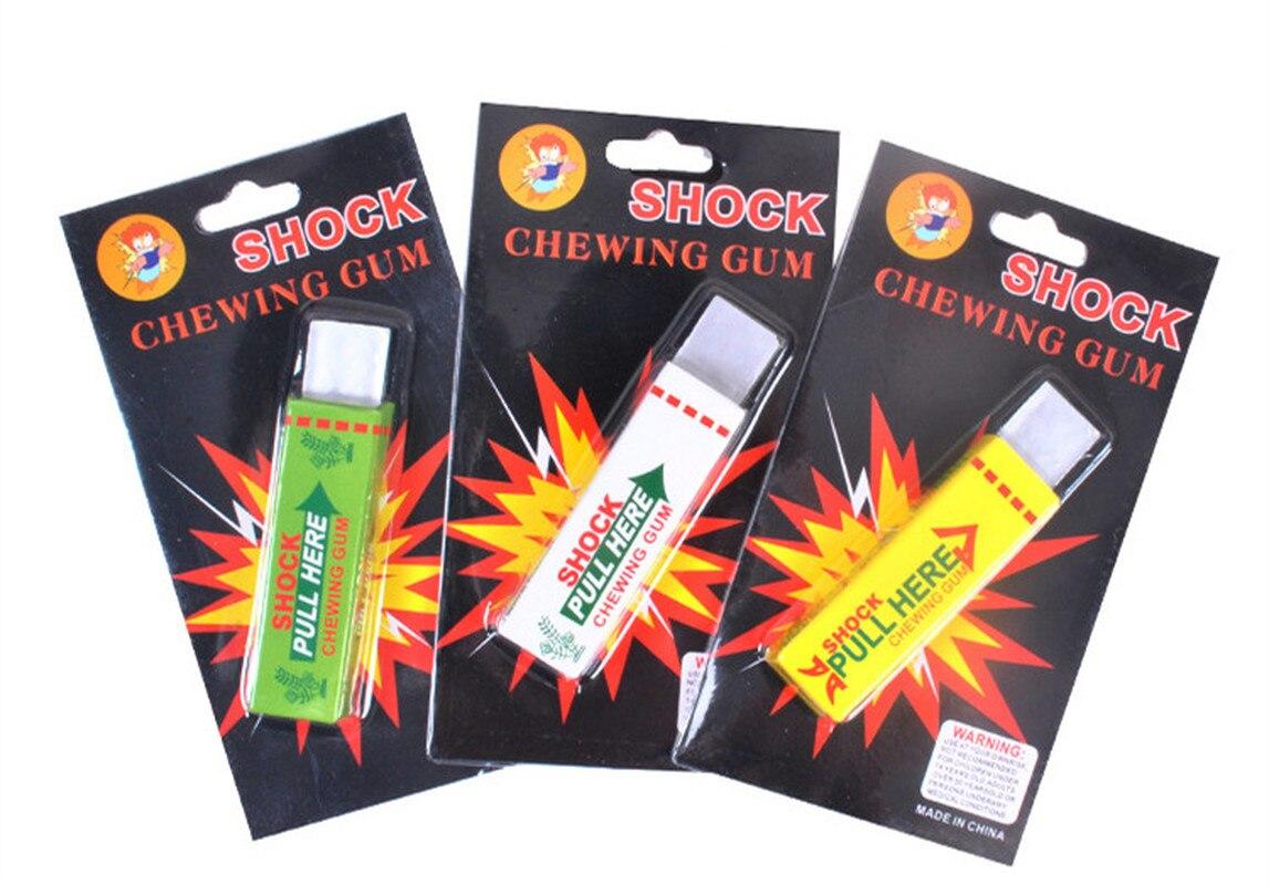 Electric Shocking Hand Chewing Gum Shocker Prank Trick Toy Joke Funny Novelty Toys Anti-stress Shock Toys(China)