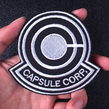 Nicediy Dragon Ball Patch Capsule Corp Anime Iron on Patches For Clothes Applique Cosplay Embroidered for clothing DIY Backpack