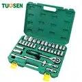 TUOSEN 32 STUKS in 1 mechanic hand ratchet tool set auto dopsleutel gereedschap mini reparatie professionele gereedschap kit voor auto