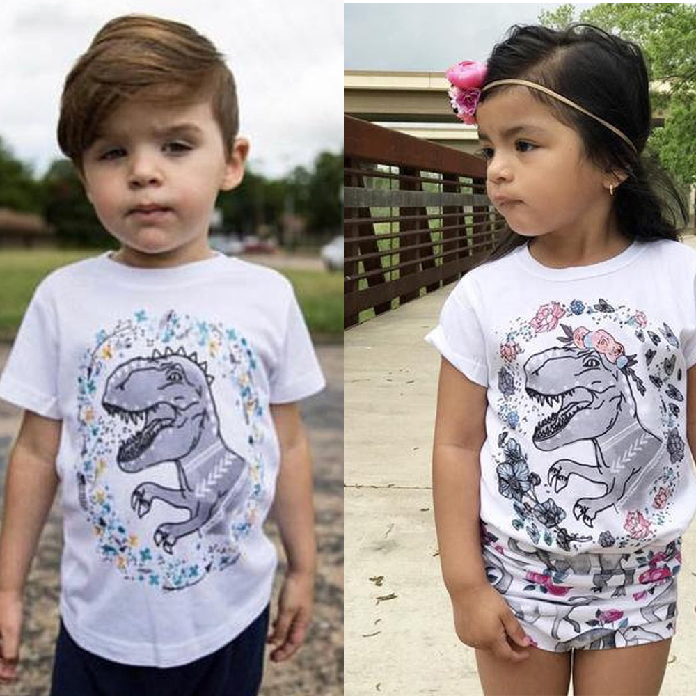 Boys Girls Dinosaur Shirt Dinosaur Kids Tee Girls Dinosaur Shirts Dinosaur saurus short sleeve outfit Birthday gift for kids