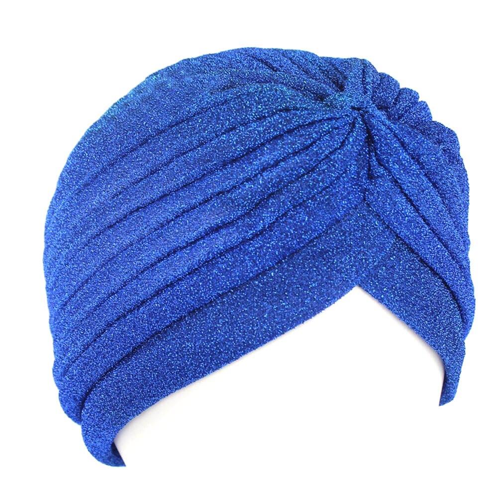 Turbante hiyab Delgado musulmán de estilo indio, turbante de moda para mujeres, dorado brillante turbante, nuevo gorro de Suave y brillante elástico, sombreros indios, envolturas para cabeza