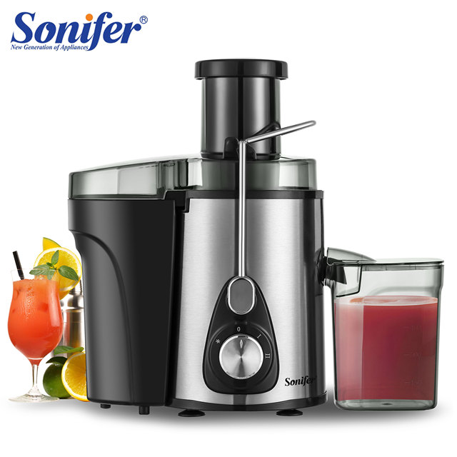 220V Stainless Steel Juicers 2 Speed Electric Juice Extractor Fruit Drinking Machine for Home Sonifer 1